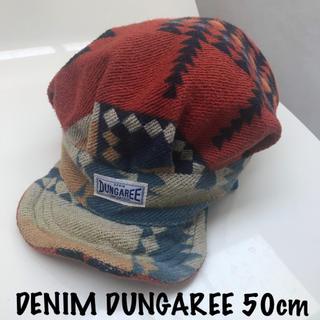 DENIM DUNGAREE - デニムダンガリー キャスケット 帽子 50cm 2歳 3歳 4歳