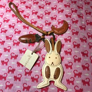 ゲンテン(genten)のgenten(ゲンテン)⭐️タグ付き未使用 キーホルダー レザー ウサギ(キーホルダー)