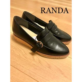RANDA - 【美品】RANDA 厚底パンプス LL ブラック