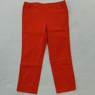 ユニクロ(UNIQLO)のUNIQLO XL 9分丈 パンツ オレンジ色(クロップドパンツ)