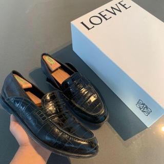 ロエベ(LOEWE)の本物 Loewe ロエベ  ローファー 箱付き サイズ10 ブラック(ドレス/ビジネス)