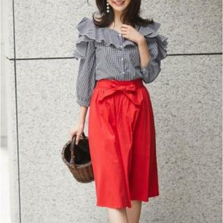 トッコ(tocco)のノスタルジアのピンクのスカート(ひざ丈スカート)