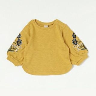 petit main - プティマイン 袖刺繍トレーナー 120