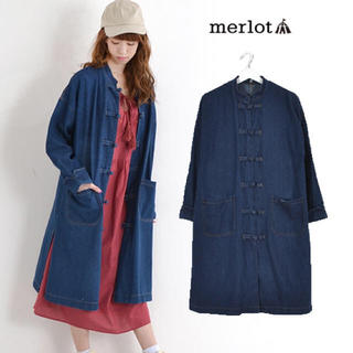 merlot - メルロー チャイナデニムコート