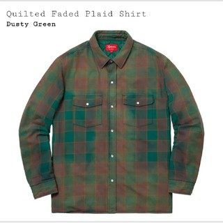 Supreme - Supreme Quilted Faded Plaid Shirt M