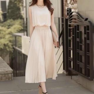 ☆売れ筋☆ワンピース フォーマル  シフォン プリーツスカート ドレス(ロングドレス)