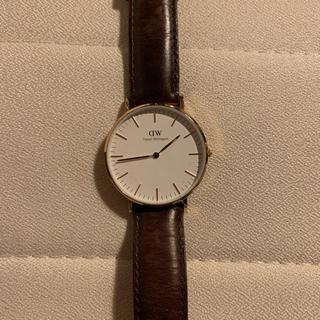 ダニエルウェリントン(Daniel Wellington)のDW 36mmメンズレディース腕時計 ブラウン 保証書付き(腕時計(デジタル))
