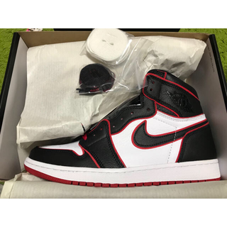 NIKE - NIKE AIR JORDAN 1 RETRO HIGH BLACK/RED