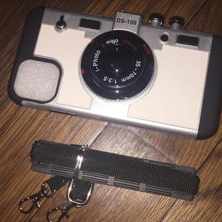 iPhone 11 Pro Max 立体カメラ型ケース ストラップ付き
