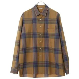 COMOLI - AURALEE オーラリー 19AW スーパーライトウールチェックシャツ