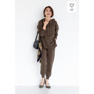 GU - 完売♡GU リブニットフーディ リブニットパンツ セットアップ♡