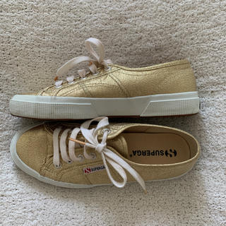 UNITED ARROWS - SUPERGA♡24㎝ ゴールドスニーカー