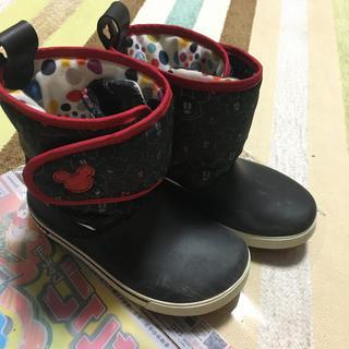 crocs - ディズニー ミッキー クロックス  長靴 レインブーツ スノーブーツ J1