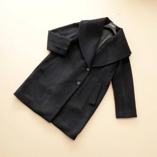 ANAYI - ■アナイ■ 38 ショールカラー 黒 コート アンゴラ混 ANAYI