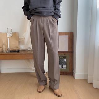 ロキエ(Lochie)のNOKCHA ノクチャ two tuck slacks pants ブラウン S(カジュアルパンツ)