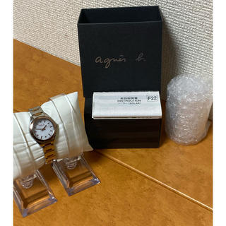 アニエスベー(agnes b.)の【良品・特価】agnes.b アニエスベー SOLAR ソーラー 時計(腕時計)