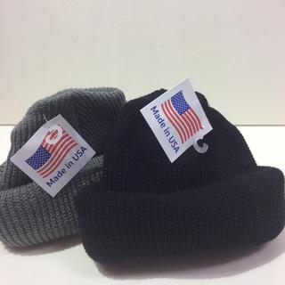 ロスコ(ROTHCO)のロスコニット帽 ブラック&グレー  2個(ニット帽/ビーニー)