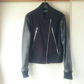 DOUBLE STANDARD CLOTHING - ダブルスタンダードクロージング 中綿ライダースブルゾン 黒