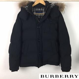 バーバリーブルーレーベル(BURBERRY BLUE LABEL)の美品 BURBERRY BLUE LABEL ダウンジャケット メンズ ブラック(ダウンジャケット)