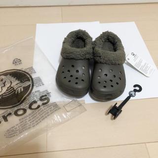 crocs - 新品 冬用 クロックス ボアサンダル