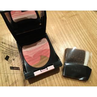 AUBE - 【美品】AUBE オーブ  ブラシひと塗りチーク 01 ローズピンク
