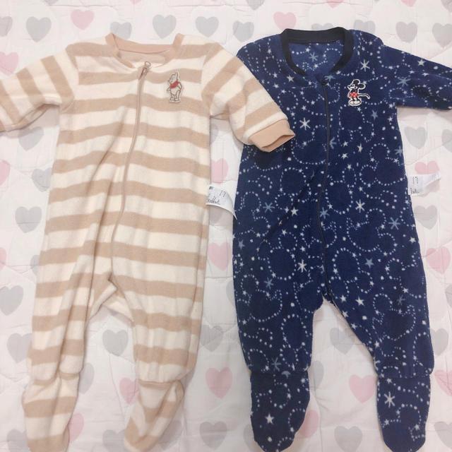UNIQLO(ユニクロ)のユニクロ カバーオール 冬服 ふわふわ ベビー baby キッズ/ベビー/マタニティのベビー服(~85cm)(カバーオール)の商品写真