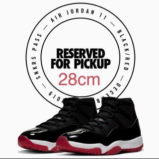 NIKE - 28cm Nike air Jordan 11 BRED  AJ11 bred