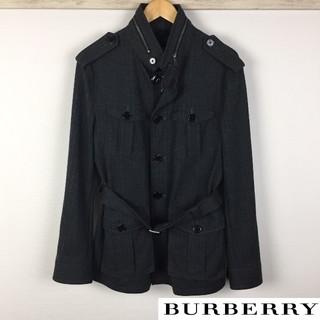 バーバリーブラックレーベル(BURBERRY BLACK LABEL)の美品 BURBERRY BLACK LABEL トレンチコート ウール素材(トレンチコート)