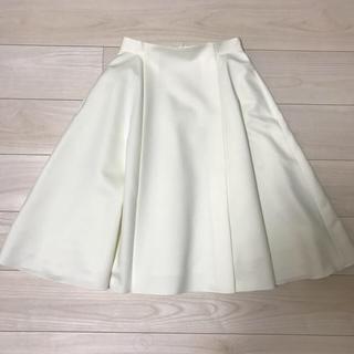 René - 【新品未使用】ルネ グログラン スカート ホワイト 36サイズ