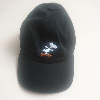 スヌーピー(SNOOPY)のキャップ 黒 (キャップ)