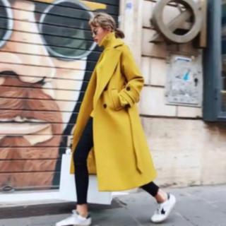 ZARA - birthdaybash yellow coat