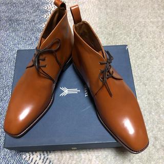 ヤンコ(YANKO)の未使用 ヤンコ(スペイン製)チャッカーブーツ 茶色 25(ブーツ)