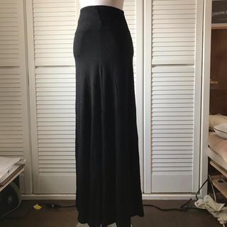 ルシェルブルー(LE CIEL BLEU)の美品 LE CIEL BLEU 黒 カットソー ロング スカート(ロングスカート)