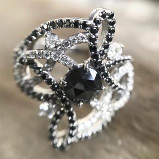 k18 ブラックダイヤ ダイヤモンドリング