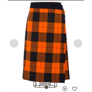 Drawer - ドゥロワー     チェックラップスカート drawer