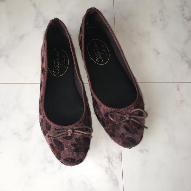 w closet(ダブルクローゼット)のレオパード柄フラットシューズ レディースの靴/シューズ(バレエシューズ)の商品写真