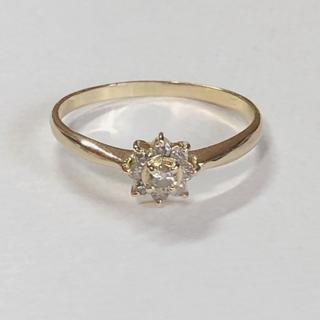 k18 天然ダイヤモンド 0.15ct  リング