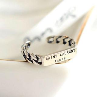 Saint Laurent - ✨SAINT LAURENT PARIS✨フリーサイズシルバーリング