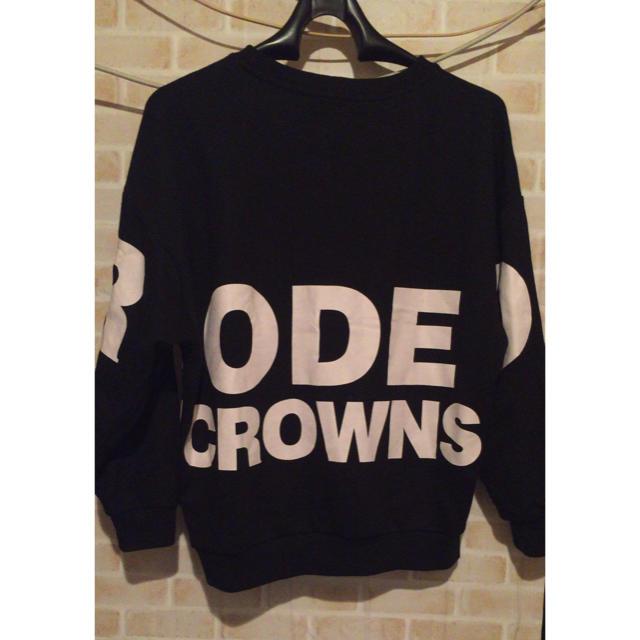 RODEO CROWNS WIDE BOWL(ロデオクラウンズワイドボウル)のビックプリントトレーナー レディースのトップス(トレーナー/スウェット)の商品写真