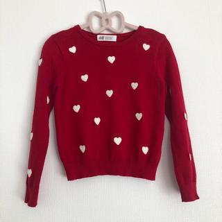 H&M - H&M セーター 赤 ハート