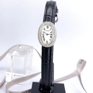 Cartier - 【OH済/純正ベルト】カルティエ ミニベニュワール K18WG ダイヤ 腕時計