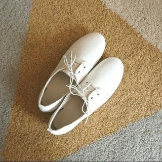 MUJI (無印良品) - 未使用 無印良品 レディース 靴 レザーレースアップシューズ 白 23cm