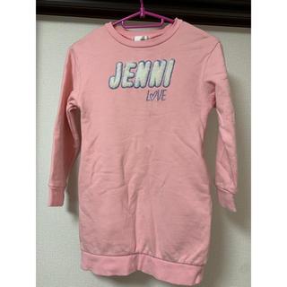 ジェニィ(JENNI)のJENNI トレーナーワンピ 130(ワンピース)