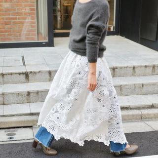 IENA - ★新品★ IENA LUANA レース巻きスカート ホワイト