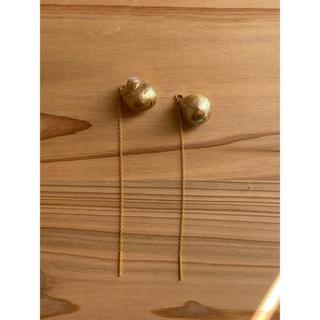 ドゥロワー(Drawer)のゴールドパール アメリカンピアス k14gf (ピアス)