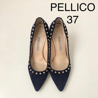PELLICO - ★ ペリーコ スタッズパンプス ★ スエードパンプス ネイビー