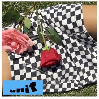 ユニフ(UNIF)のUNIF ユニフ チェック タイトスカート(ミニスカート)