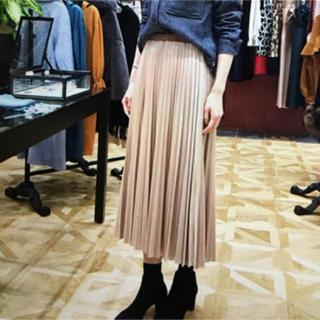 GRACE CONTINENTAL - グレースコンチネンタル プリーツベロアスカート