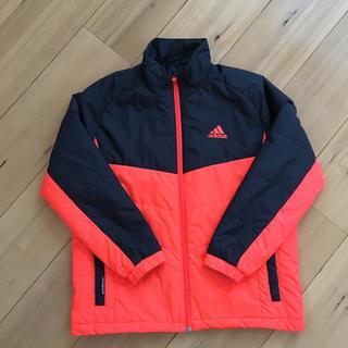 adidas - アディダス*ジャンパー*140センチ*ブラック×オレンジ