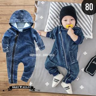 【即納】デニムロンパース/カバーオール 80☻北欧 ベビー服 韓国ベビー服